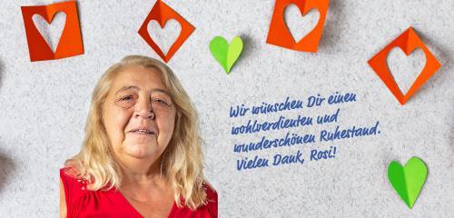 Verabschiedung unserer wertvollen Kollegin Roswitha Melis in den Ruhestand